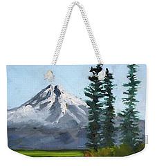Weekender Tote Bag featuring the painting Baker Meadow by Nancy Merkle