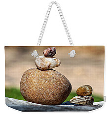 Weekender Tote Bag featuring the photograph Balance And Measures by Ella Kaye Dickey
