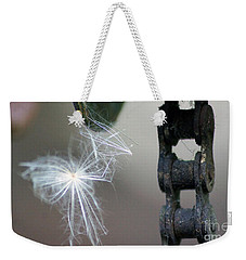 Balance, Feather And Iron Chain In The Wind Weekender Tote Bag