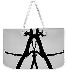 Weekender Tote Bag featuring the photograph Balanced I Bw by David Gordon