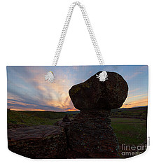 Weekender Tote Bag featuring the photograph Balanced by Mike Dawson