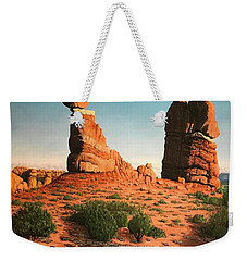 Balanced Rock At Arches National Park Weekender Tote Bag