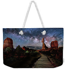 Balanced Rock Milky Way Weekender Tote Bag