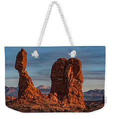Balanced Rock Sunset Weekender Tote Bag
