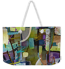 Weekender Tote Bag featuring the painting Balancing Act by Hailey E Herrera