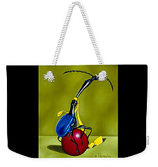 Weekender Tote Bag featuring the painting Balancing Act by Paxton Mobley