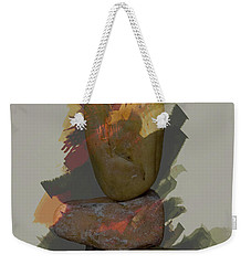 Weekender Tote Bag featuring the photograph Balancing Stones by John Stuart Webbstock