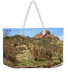 Weekender Tote Bag featuring the photograph Balconies Trail - Pinnacles National Park by Art Block Collections