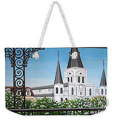 Balcony View Of St Louis Cathedral Weekender Tote Bag
