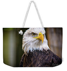 Weekender Tote Bag featuring the photograph Bald Eagle by Lisa L Silva