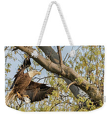 Bald Eagle Catch Of The Day  Weekender Tote Bag