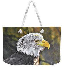 Bald Eagle Digital Weekender Tote Bag