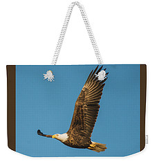 Bald Eagle Fly-by Weekender Tote Bag by Jeff at JSJ Photography