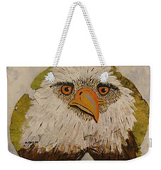 Bald Eagle Front View Weekender Tote Bag by Ralph Root