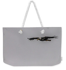 Bald Eagle Gliding Weekender Tote Bag