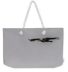 Bald Eagle Gliding Weekender Tote Bag by Timothy Latta