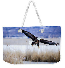 Bald Eagle Landing Weekender Tote Bag