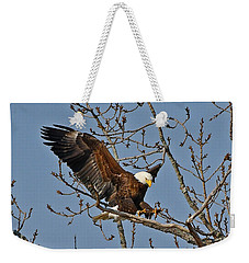 Bald Eagle Landing Weekender Tote Bag