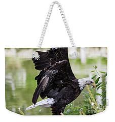 Bald Eagle Lifting Off Weekender Tote Bag