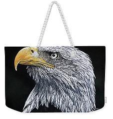 Bald Eagle Weekender Tote Bag by Linda Becker