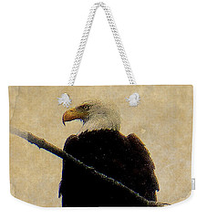 Weekender Tote Bag featuring the photograph Bald Eagle by Lori Seaman