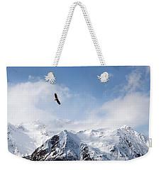 Bald Eagle Over Mountains Weekender Tote Bag