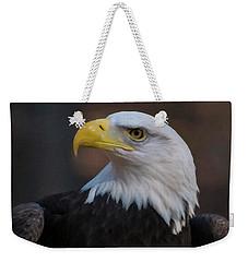 Weekender Tote Bag featuring the digital art Bald Eagle Painting by Chris Flees