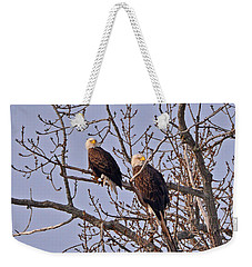 Bald Eagle Pair Weekender Tote Bag