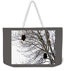 Weekender Tote Bag featuring the photograph Bald Eagle Pair by Will Borden