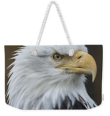 Bald Eagle Portrait Weekender Tote Bag