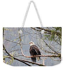 Bald Eagle Resting Weekender Tote Bag