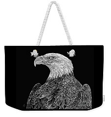 Bald Eagle Scratchboard Weekender Tote Bag