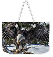 Bald Eagle Spread Weekender Tote Bag