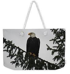 Bald Eagle Watching Weekender Tote Bag