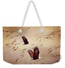 Bald Eagles And Seagulls Weekender Tote Bag