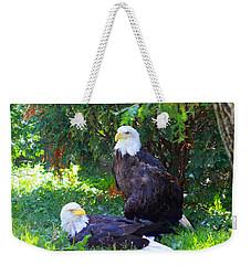 Bald Eagles Weekender Tote Bag by Michael Rucker
