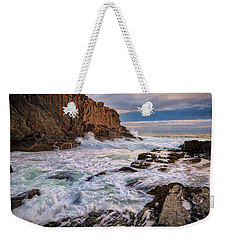 Weekender Tote Bag featuring the photograph Bald Head Cliff by Rick Berk