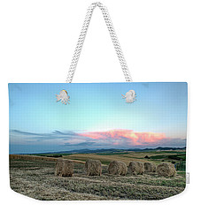 Bales And Sunset Weekender Tote Bag