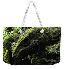 Bali Indonesia Lizard Sculpture Weekender Tote Bag by Bob Christopher