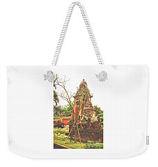Weekender Tote Bag featuring the photograph Balinese Temple Gates by Cassandra Buckley
