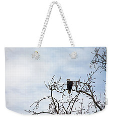 Weekender Tote Bag featuring the photograph Balk Eagle by Rebecca Cozart