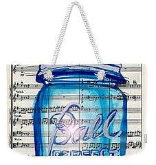 Weekender Tote Bag featuring the painting Ball Mason Jar Classical #168 by Ecinja