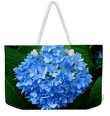 Weekender Tote Bag featuring the photograph Ball Of Blue by Michiale Schneider