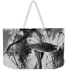 Ballerina Dance Black And White  Weekender Tote Bag by Gull G