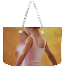Ballerina In Pink Weekender Tote Bag by Colleen Taylor