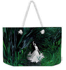 Weekender Tote Bag featuring the photograph Ballerina In Wonderland by Rebecca Margraf