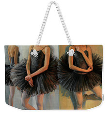 Ballerinas In Black Tutu Weekender Tote Bag