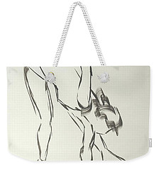 Ballet Dancer Bending And Stretching Weekender Tote Bag