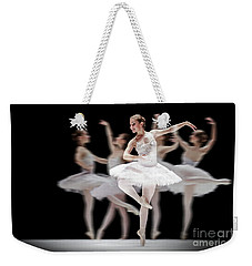 Weekender Tote Bag featuring the photograph Ballet Dancer Dance Photography Long Exposure by Dimitar Hristov
