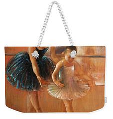 Ballet Lesson Weekender Tote Bag by Vali Irina Ciobanu